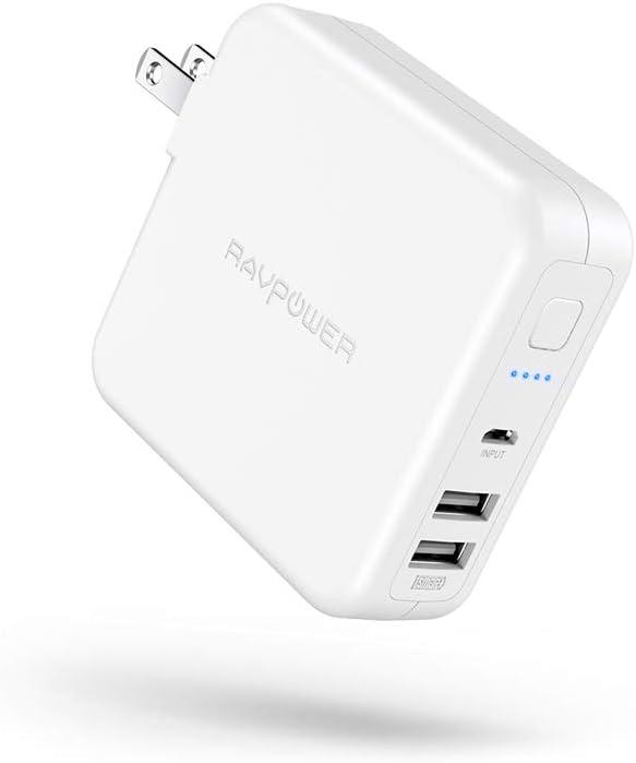 RAVPower モバイルバッテリー 搭載 USB 充電器 6700mAh 急速充電 【USB 2ポ…