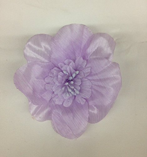 Organza Daisy (4'' Lavender Garden Basic Flower Organza, Flower Brooch Price For 2 Pieces)
