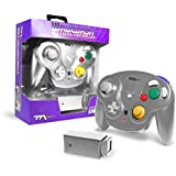 TTXTech GC Wavedash Wireless Controller Silver for Nintendo GameCube with Wii Console