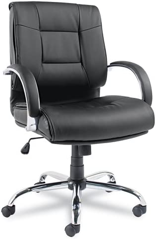 Alera Ravino Series Mid-Back Swivel Tilt Leather Chair