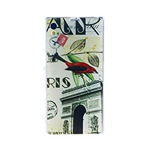 Fashion Postmark Triumphal Arch Pattern Soft Firm Case for Sony Xperia Z1 L39h