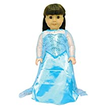 Doll Dress - Queen Elsa Inspired Outfit Fits American Girl Doll, My Life Doll, Our Generation and other 18 inch Dolls by Pink Butterfly Closet