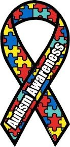 - 1 X Autism Awareness Ribbon Magnet Large 4