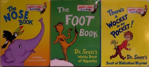 There's a Wocket in My Pocket / The Foot Book / The Nose Book - 3 Board Book Set (Bright and Early Board Books) by Dr. Seuss (2010) Board book