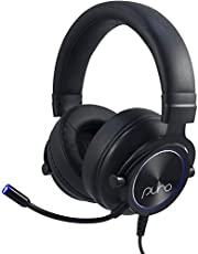 PuroGamer Gaming Headset – Safer, Volume Limiting Wired Headphones for Kids and Adults with Dynamic Sound and Noise-Canceling Gaming Mic for PC, Mac, PS4, Xbox 1, iPad, Mobile Phone by Puro Sound Labs