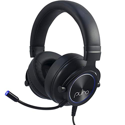 Puro Sound Labs PuroGamer Gaming Headset – Safer, Volume Limiting Wired Headphones for Kids and Adults with Dynamic Sound and Noise-Canceling Gaming Mic for PC, Mac, PS4, Xbox 1, iPad, Mobile Phone