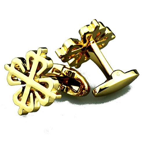 EoCot Mens Classic Cufflinks Copper Gold Geometric Shirt/Dress Business Wedding Gift