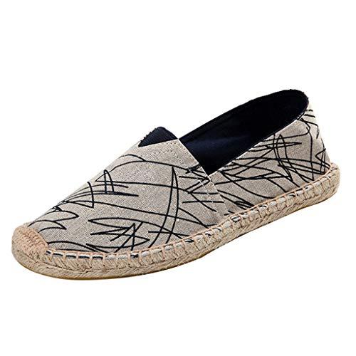 (Womens Espadrilles Platform Shoes Canvas Boat Shoe Loafer Slip on Ballet Flat Trim Rubber Sole Closed Toe Sneaker (US:5.5, Green) )