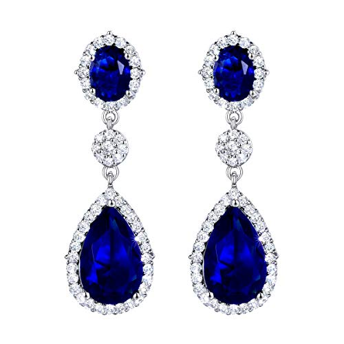 Drop Earrings Party Earrings Silver Tone Cubic Zirconia ()