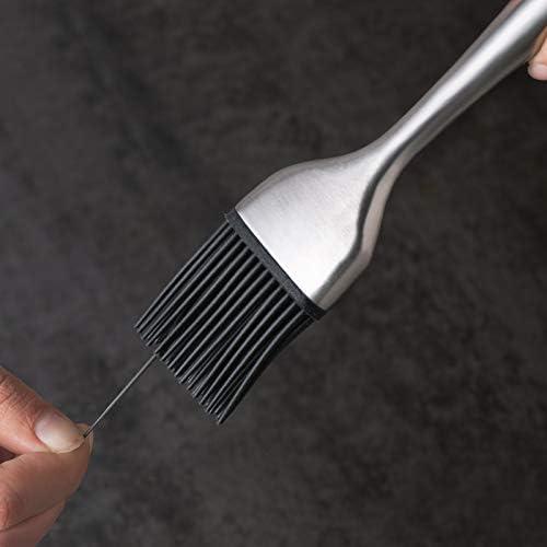 LLXLJ Grill Brosse Haute Résistance À La Température en Acier Inoxydable Poignée Creuse Badigeonner en Silicone Pâtisserie Cuisson BBQ Brushs (Brosse Huile 4 Pack)