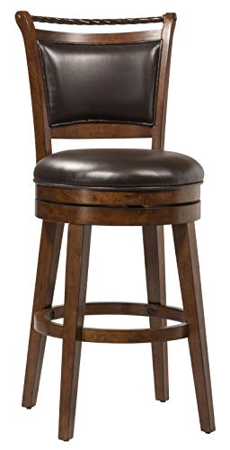 Hillsdale Furniture 4298-826S Calais Swivel Counter Stool, Height, Distressed Cherry