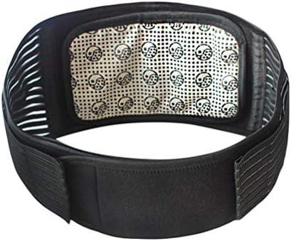 HEALLILY Magnetische Taille Backbrace Einstellbare Lower Back Support Belt Lordosenstütze Gürtel für Back Pain Relief (Black)