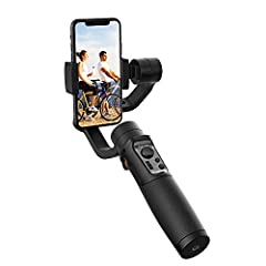 NOTE:  Pleas install you mobile and keep it in balance before power on the gimbal Advanced technology Specifications:  World first launch the face/ object tracking motion time lapse And it supports many kinds of advanced shooting techniques s...