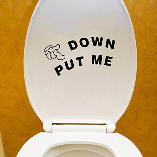 New Design Put Down Finger Toilet 12 6cm Wall Stickers Funny Bathroom -