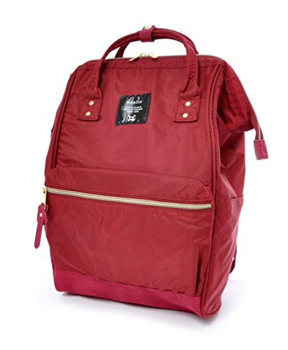 Anello Large Leather Backpack (Wine) - 8