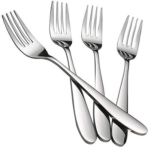 Kekow Serving Fork Set, 8-Piece Stainless Steel Buffet Serving Fork, 9.37-INCH