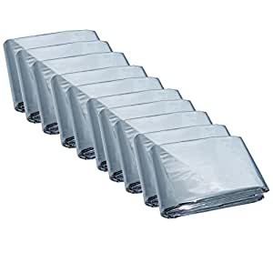 Mylar Men's Emergency Thermal Blankets (10 Pack)