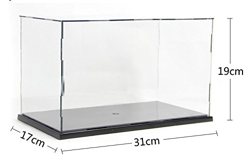 KENGEL 12x6.7x7.5 Inch Assembly Transparent Clear Acrylic Toys Display Dustproof Protection Showcase Case Box
