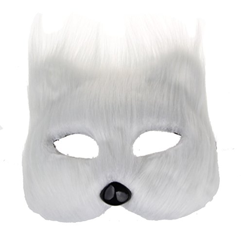 Women Full Face Venetian Masquerades Mardi Gras Cat Mask Costumes Party Accessory (white) ()