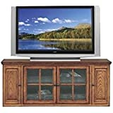 "BOWERY HILL 62"" TV Stand with Storage in Burnished Oak Finish"