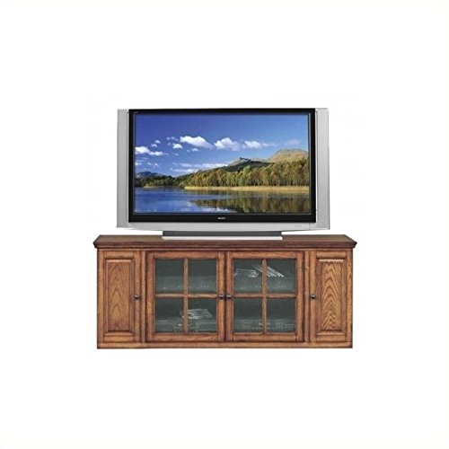 BOWERY HILL 62 TV Stand with Storage in Burnished Oak Finish