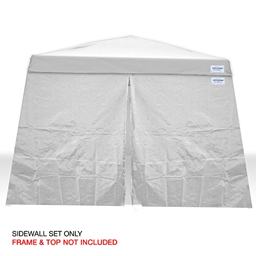 Caravan Canopy 11007812014 Set for 64 sq.ft. V-Series Slant Leg 10x10 Canopy sidewalls, White