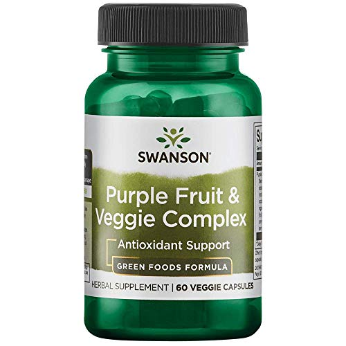 Swanson Whole Food Purple Antioxidants Fruit & Veggie Complex 400 Milligrams 60 Veg Capsules