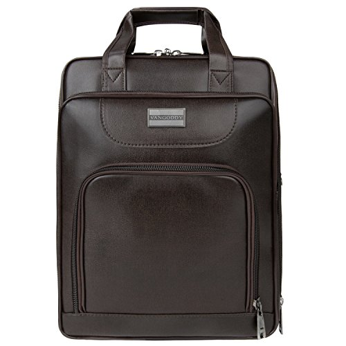 VanGoddy 2 in 1 Multipurpose Brown Pittas Laptop Bag Back...