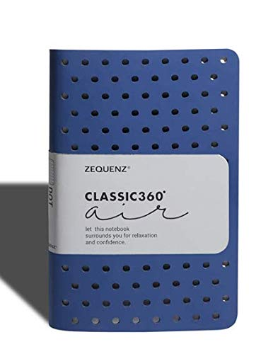 Zequenz Classic 360 Air Soft Cover Notebook, Soft Bound Journal, Small Pocket Size, 3.5
