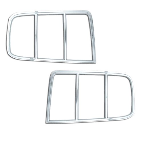 Mustang Tail Light Covers (Razer Auto 2005-2009 Ford Mustang Chrome Tail Light Bezel Trim Cover)