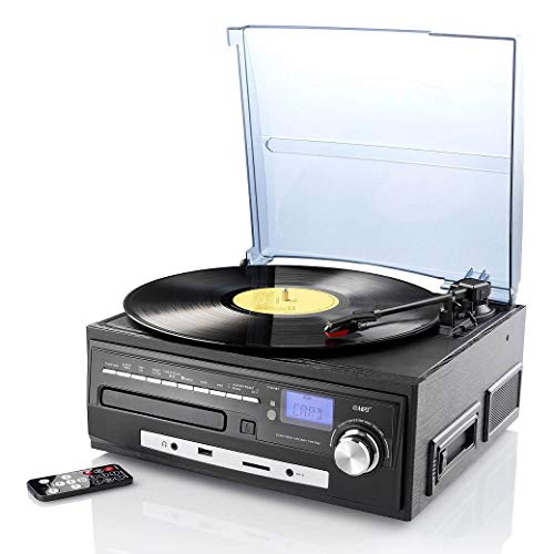 auvisio Geluidsplatensysteem: compact stereosysteem MHX-550.LP voor plateaus, CD, MC, MP3 (digitaliseren)
