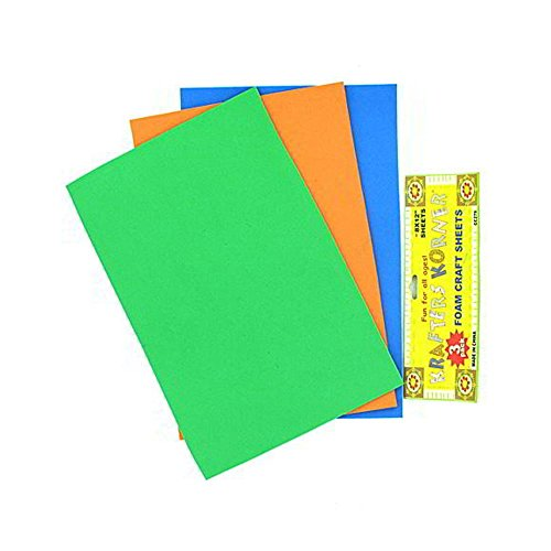 72 3 Pack foam craft sheets (assorted colors) by FindingKing