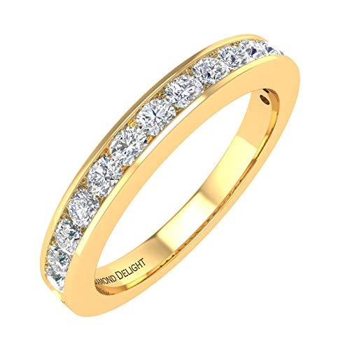 14k Yellow Gold Wedding/anniversary Diamond Band Ring (1/2 Carat) - IGI Certified