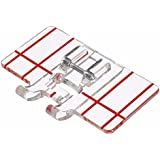 YEQIN Border Guide Sewing Machine Presser Foot - Fits All Low Shank Snap-On Singer, Brother, Babylock, Euro-Pro, Simplicity, White, Janome, Kenmore, Juki, New Home
