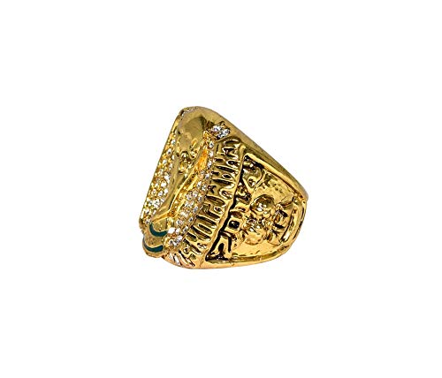 GERMANY (4X Champs) 2014 WORLD CUP FINAL CHAMPIONS Rio de Janeiro, Brazil (Playing Vs. Argentina) Rare Collectible High Quality Replica Gold Soccer Championship Ring with Cherrywood Display Box
