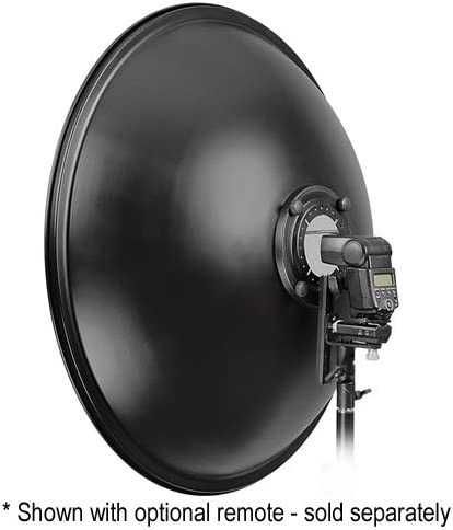 Fotodiox Pro Beauty Dish 18 with Honeycomb Grid and Speedring for Canon Flash Speedlight