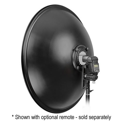 Fotodiox 16'' Beauty Dish with Soft Diffuser Sock and Speedring Bracket, for Nissin Flash Di866, Di622, Di466, PZ400, Beautydish