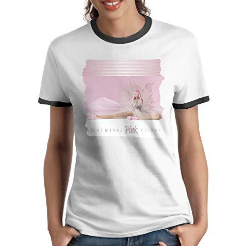 LarryCDizon Nicki Minaj Pink Friday Fashion Casual Womans Printed T-Shirt XL]()