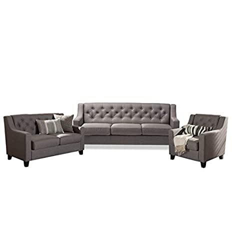 Magnificent Amazon Com Home Square 3 Piece Sofa Set With Sofa Loveseat Caraccident5 Cool Chair Designs And Ideas Caraccident5Info