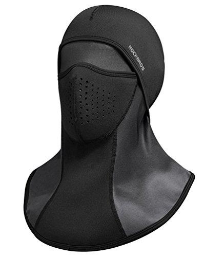 RockBros Ski Mask Balaclava Fleece Cycling Thermal Windproof Face Mask Black from RockBros