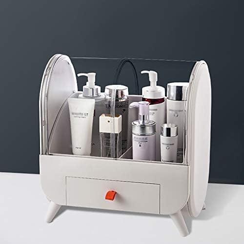 化粧品収納ボックス 家庭用化粧品収納ボックス化粧台化粧品スキンケア口紅マスクラック引き出し透明プッシュプルカバーアクリル素材シリコンハンドルピンクグレー JSSFQK (Color : Gray)