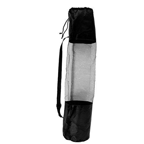 (eDealMax Réglable Yoga Sangle Pilates Mat Pad Mesh Sac net Porte 67cmx22cm)