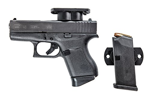TLO Outdoors Magnetic GunMag Gun and Ammo Mag Mount (2 Pack) Magnetic Holster and Gun or Ammo Magazine Mount for Home, Office, Vehicle Concealment with Improved Exclusive Safety Cylinder (Improved Cylinder)