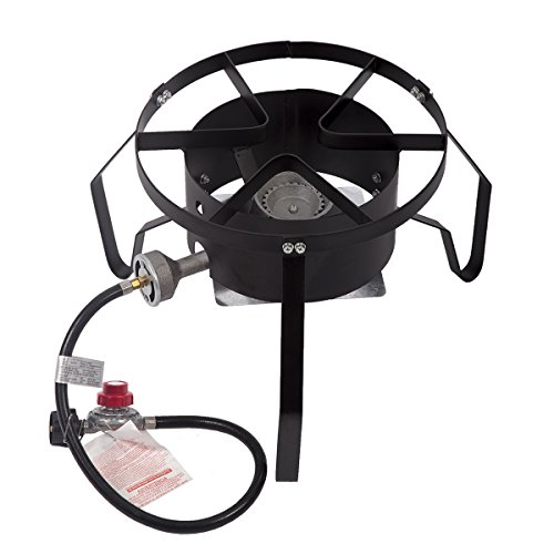 BestMassage 13-inch Outdoor Propane Cooker Portable High Pressure Bold Together Cooker Single Burner Outdoor Patio Stove Gas Cooker