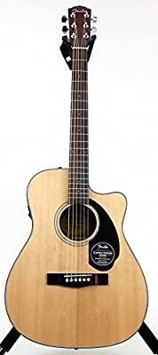 Fender Classic Design Series CC-60SCE Cutaway Concert Acoustic-Electric Guitar by Fender