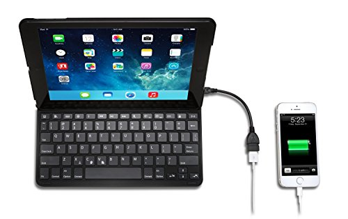Kensington Key Folio Thin X3 Keyboard Case with Powerlift for iPad Air (K97269US)
