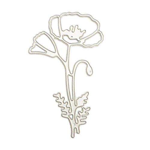(ShapeW Poppy Flower Cutting Dies Stencil Scrapbooking Embossing Album Paper Card Craft)