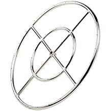 """Stanbroil 12"""" Round Fire Pit Burner Ring, 304 Series Stainless Steel, BTU 92,000 Max"""