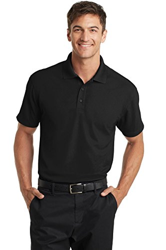 Port Authority Dry Zone Grid Polo 2XL Black
