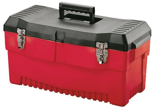 Stack-On PR-23 23-Inch Professional Multi-Purpose Plastic Tool Box, Red by Stack-On